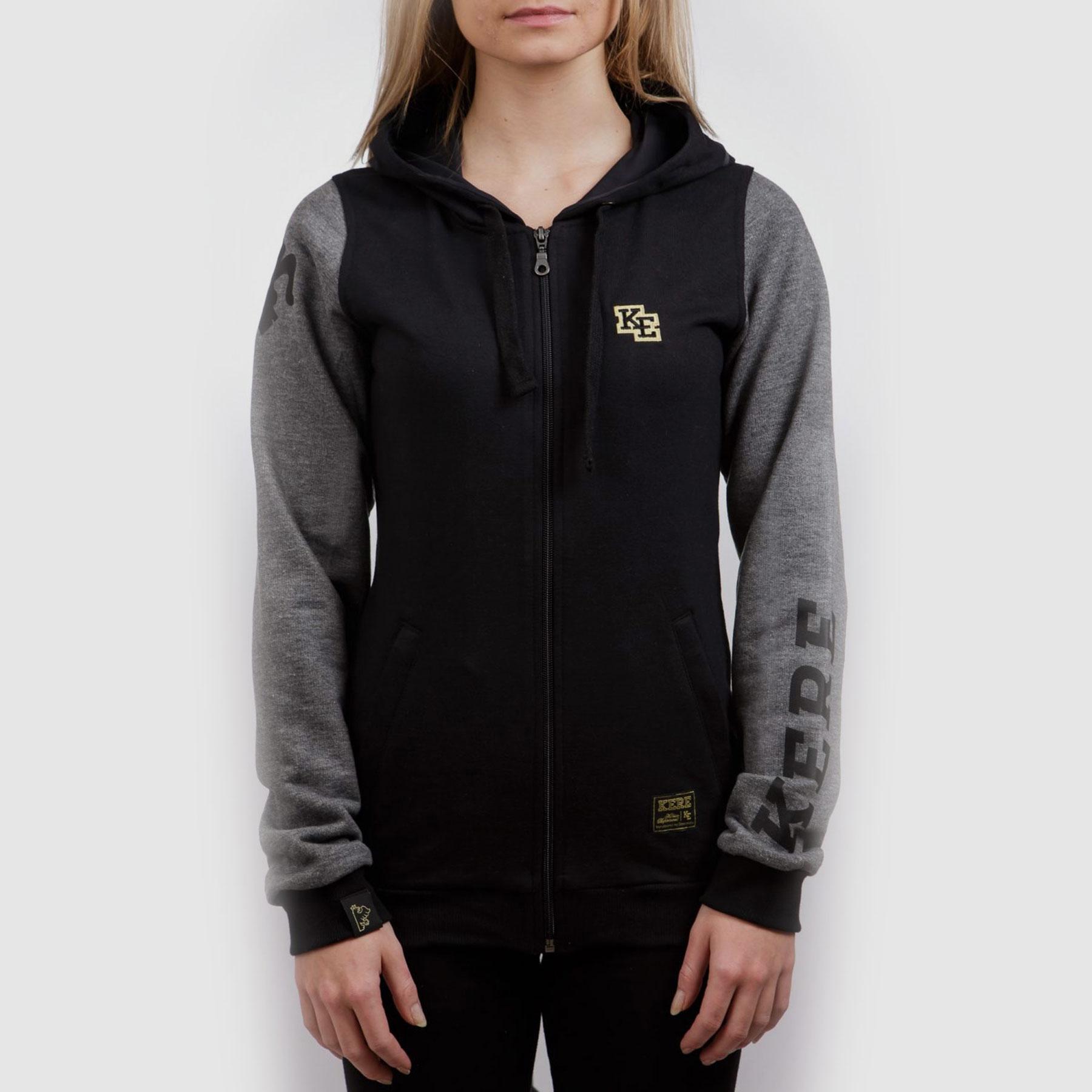 Čierna mikina s kapucňou KERE - KERE 12d41934e51